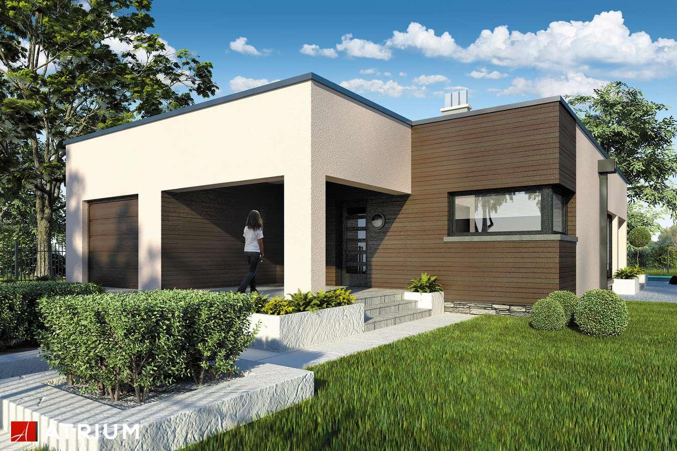 Projekty domów - Projekt domu parterowego TOKYO - wizualizacja 1 - wersja lustrzana