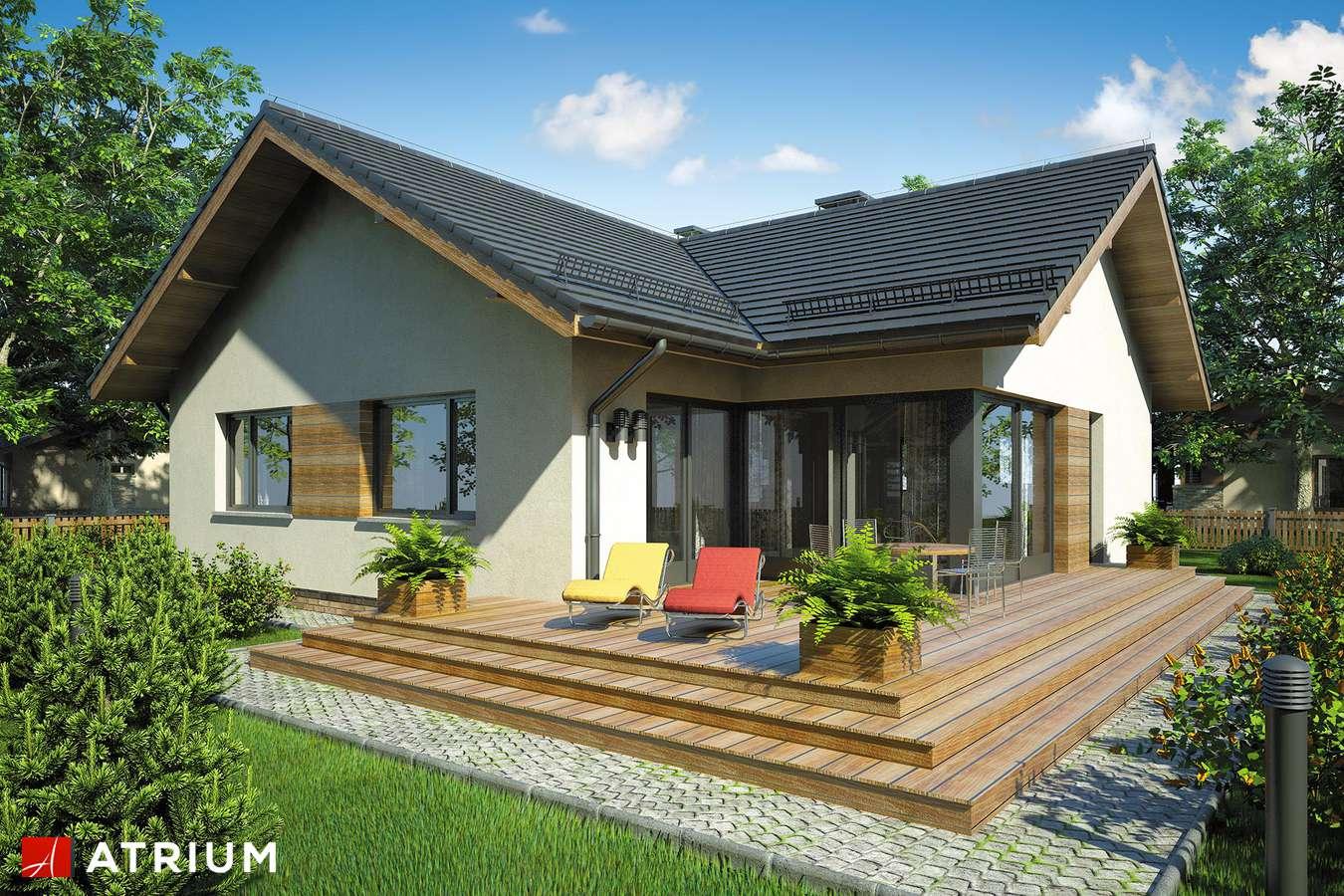 Projekty domów - Projekt domu parterowego AMBER III - wizualizacja 2