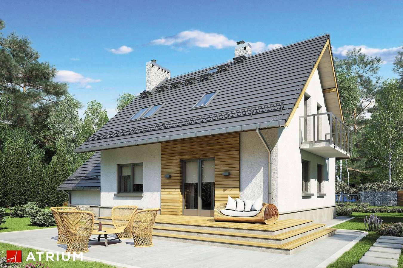 Projekty domów - Projekt domu z poddaszem ROLEKS BIS II - wizualizacja 2 - wersja lustrzana