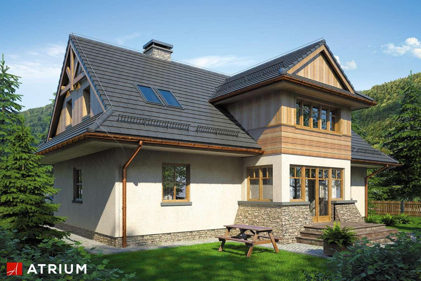 Projekty domów - Projekt domu z poddaszem POD GRAPą - wizualizacja 2 - wersja lustrzana