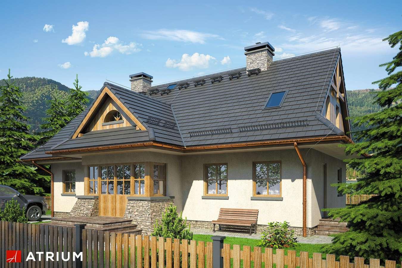 Projekty domów - Projekt domu z poddaszem POD GRAPą - wizualizacja 1