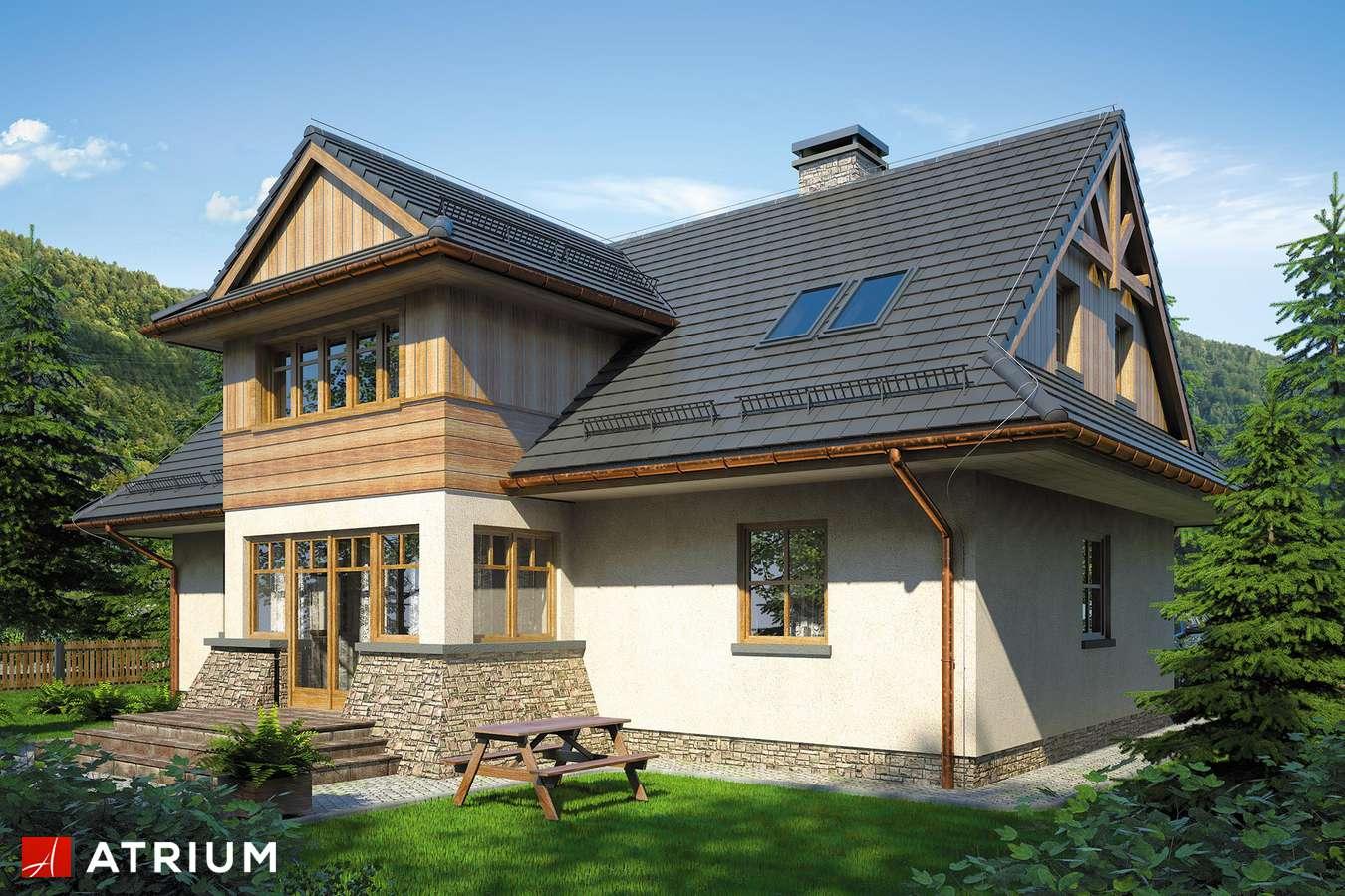 Projekty domów - Projekt domu z poddaszem POD GRAPą - wizualizacja 2