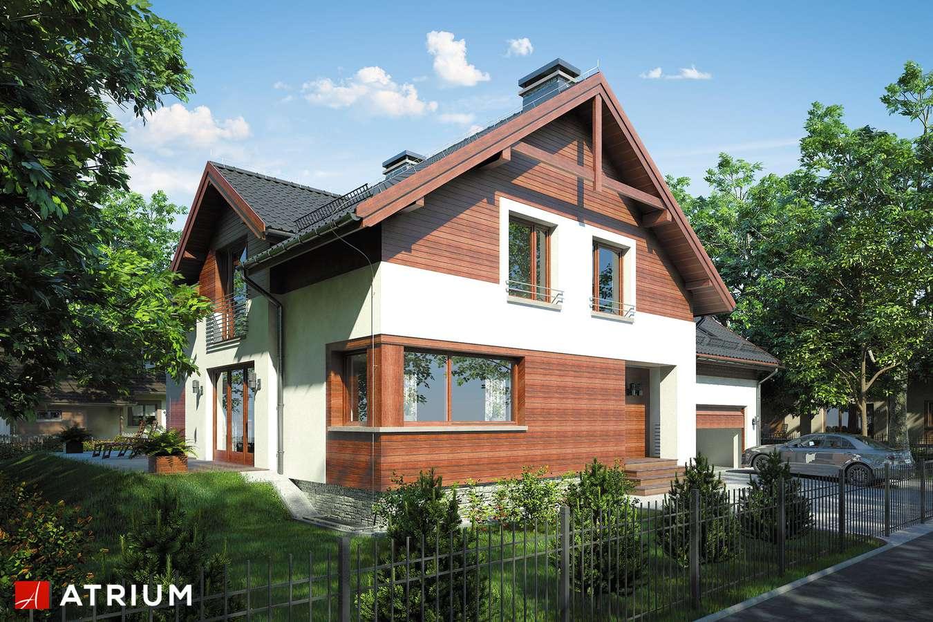 Projekty domów - Projekt domu z poddaszem JUPITER IV - wizualizacja 1