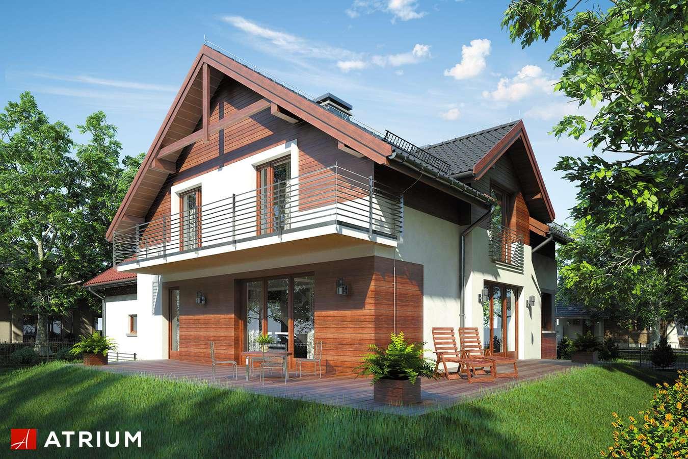 Projekty domów - Projekt domu z poddaszem JUPITER IV - wizualizacja 2