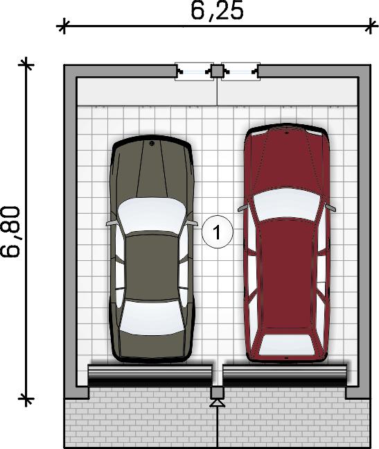 rzut garażu - Garaż Z 40