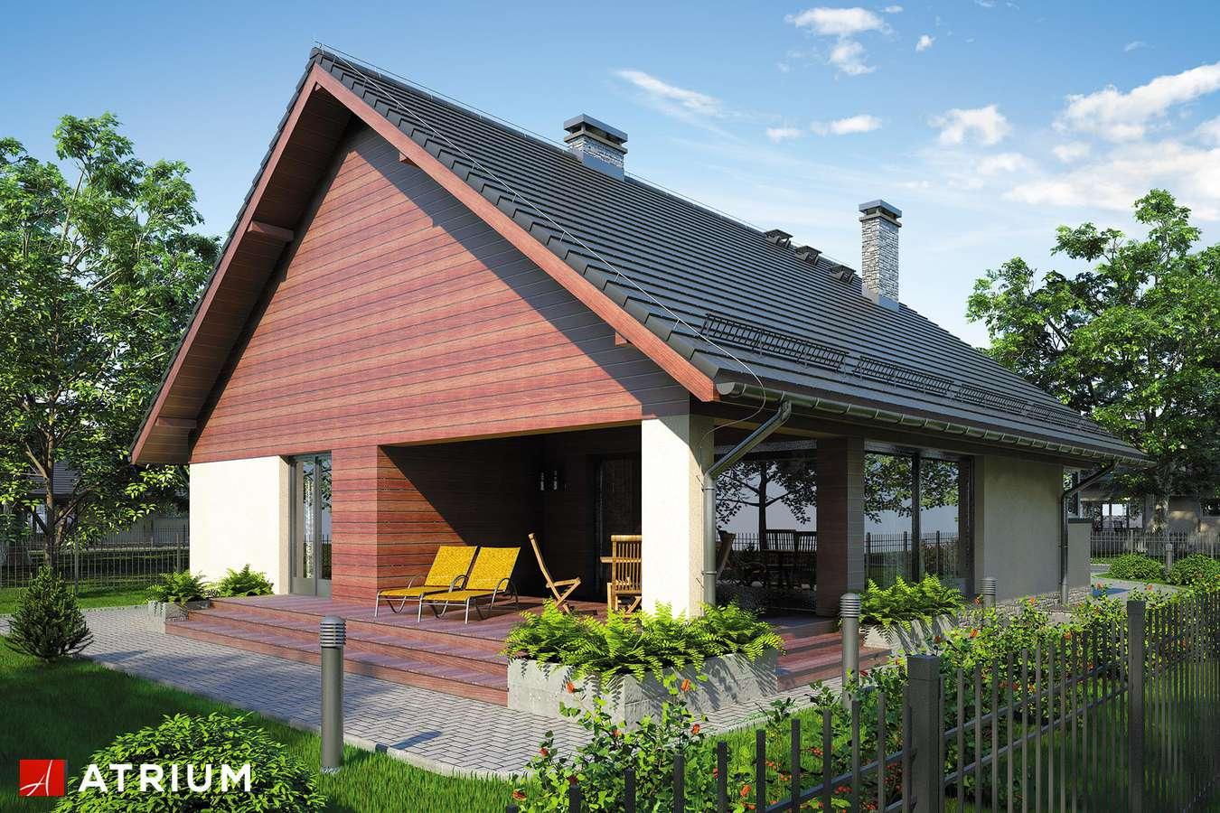 Projekty domów - Projekt domu parterowego PELIKAN VII - wizualizacja 2