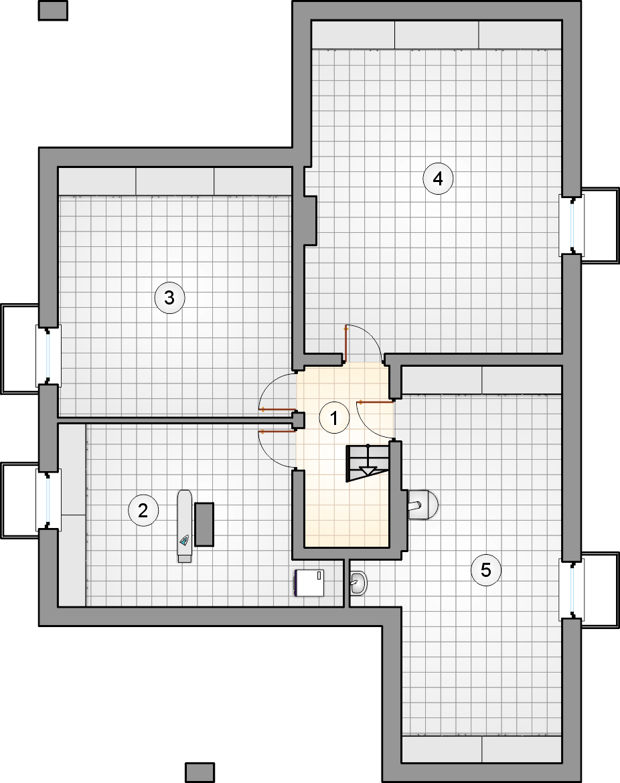 Rzut piwnicy - projekt Pelikan VII