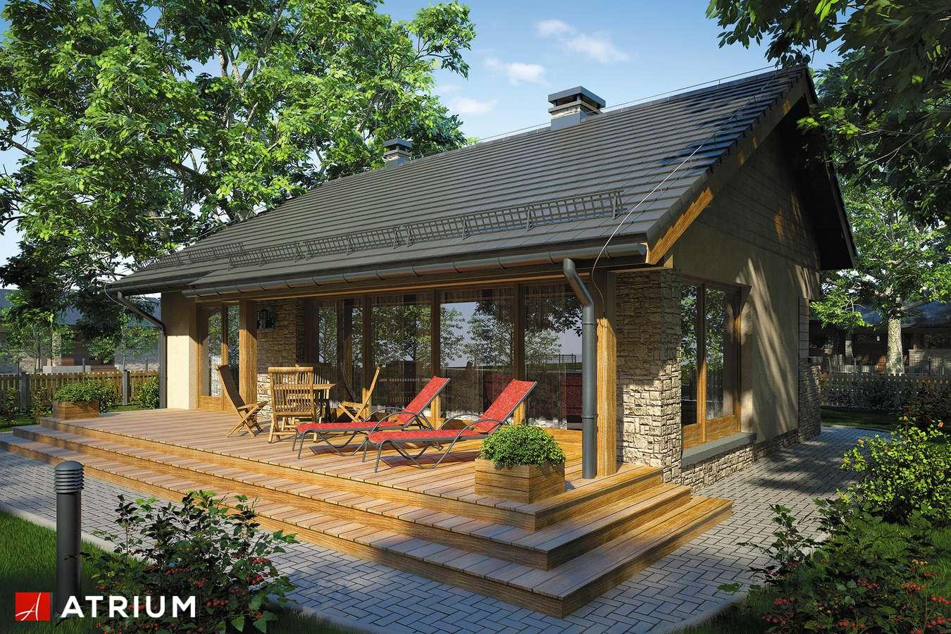 Projekty domów - Projekt domu parterowego RICARDO XI - wizualizacja 2 - wersja lustrzana
