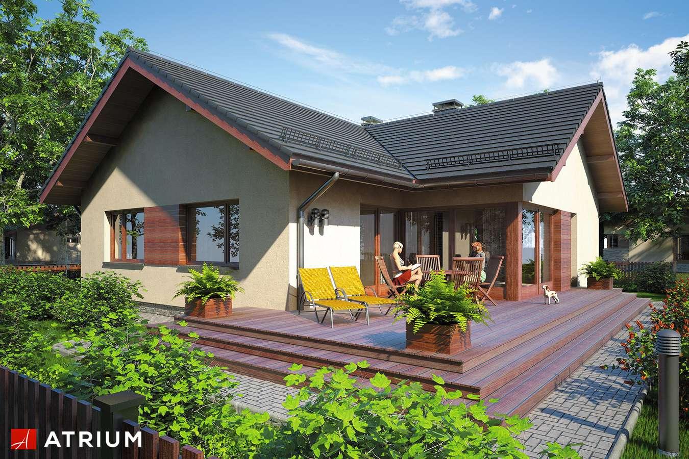 Projekty domów - Projekt domu parterowego AMBER IV - wizualizacja 2