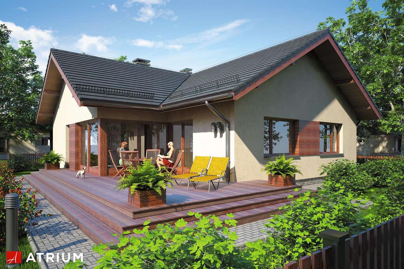 Projekty domów - Projekt domu parterowego AMBER IV - wizualizacja 2 - wersja lustrzana