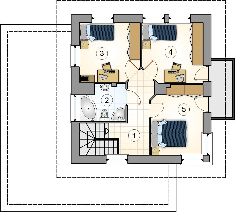 Rzut piętra - projekt Siena III