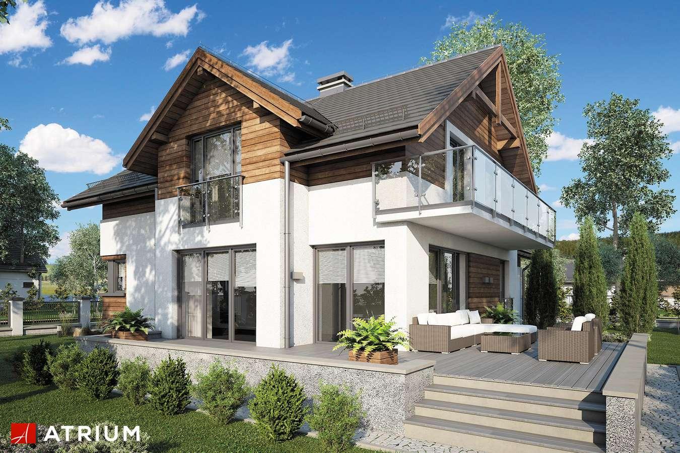 Projekty domów - Projekt domu z poddaszem JUPITER V - wizualizacja 2