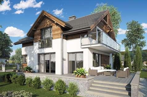Projekt domu z poddaszem JUPITER V - wizualizacja 2
