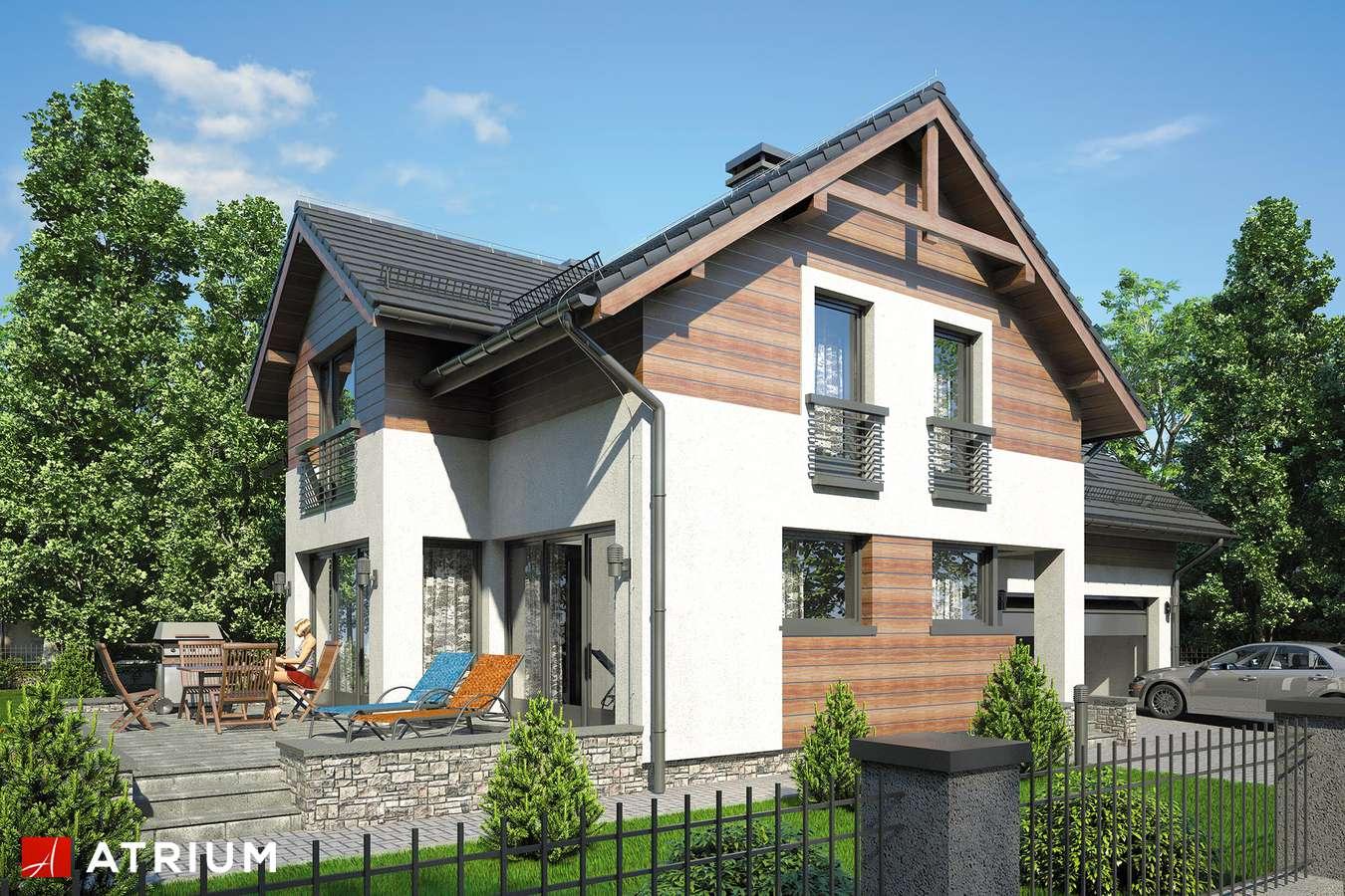 Projekty domów - Projekt domu z poddaszem JUPITER VI - wizualizacja 1