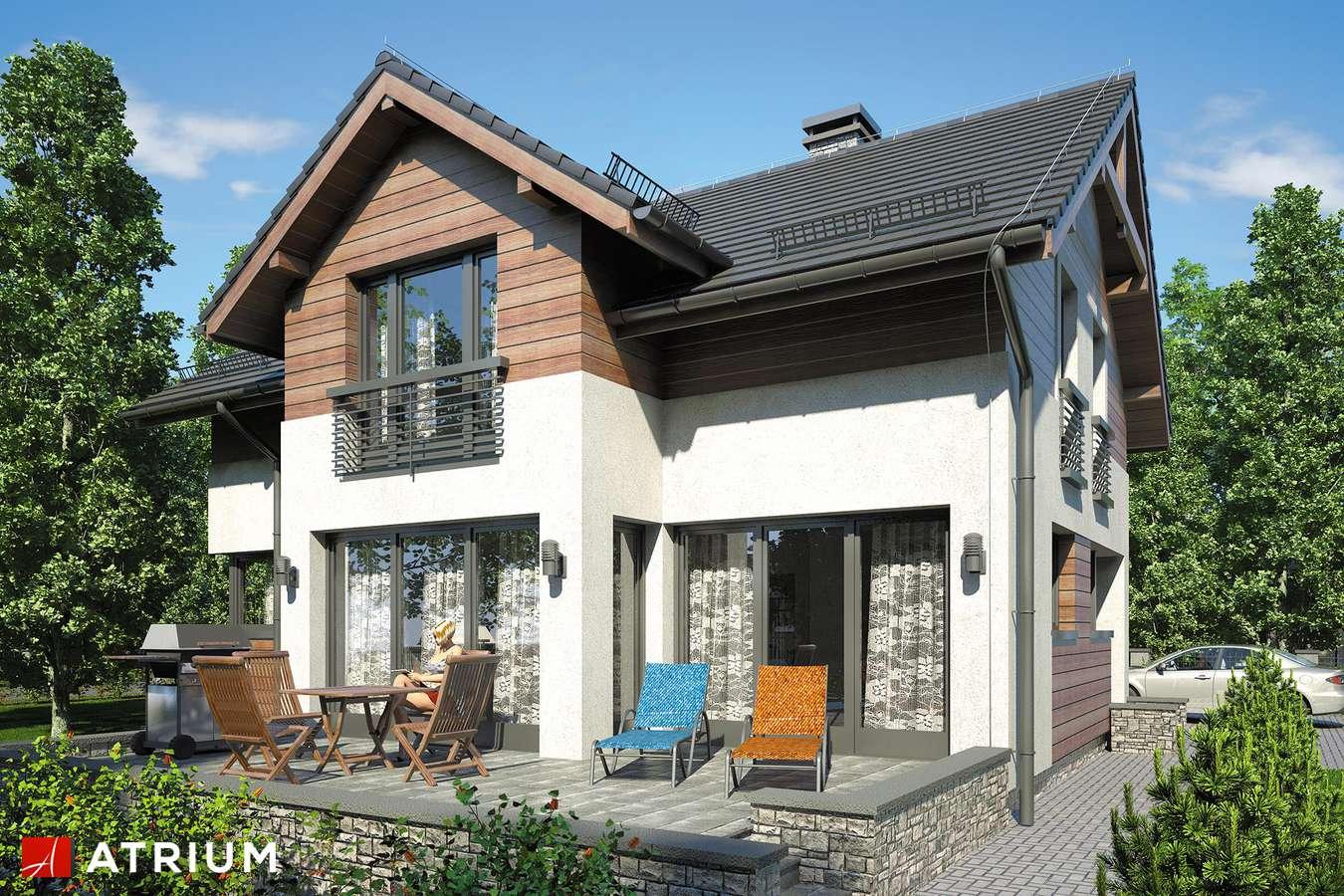 Projekty domów - Projekt domu z poddaszem JUPITER VI - wizualizacja 2