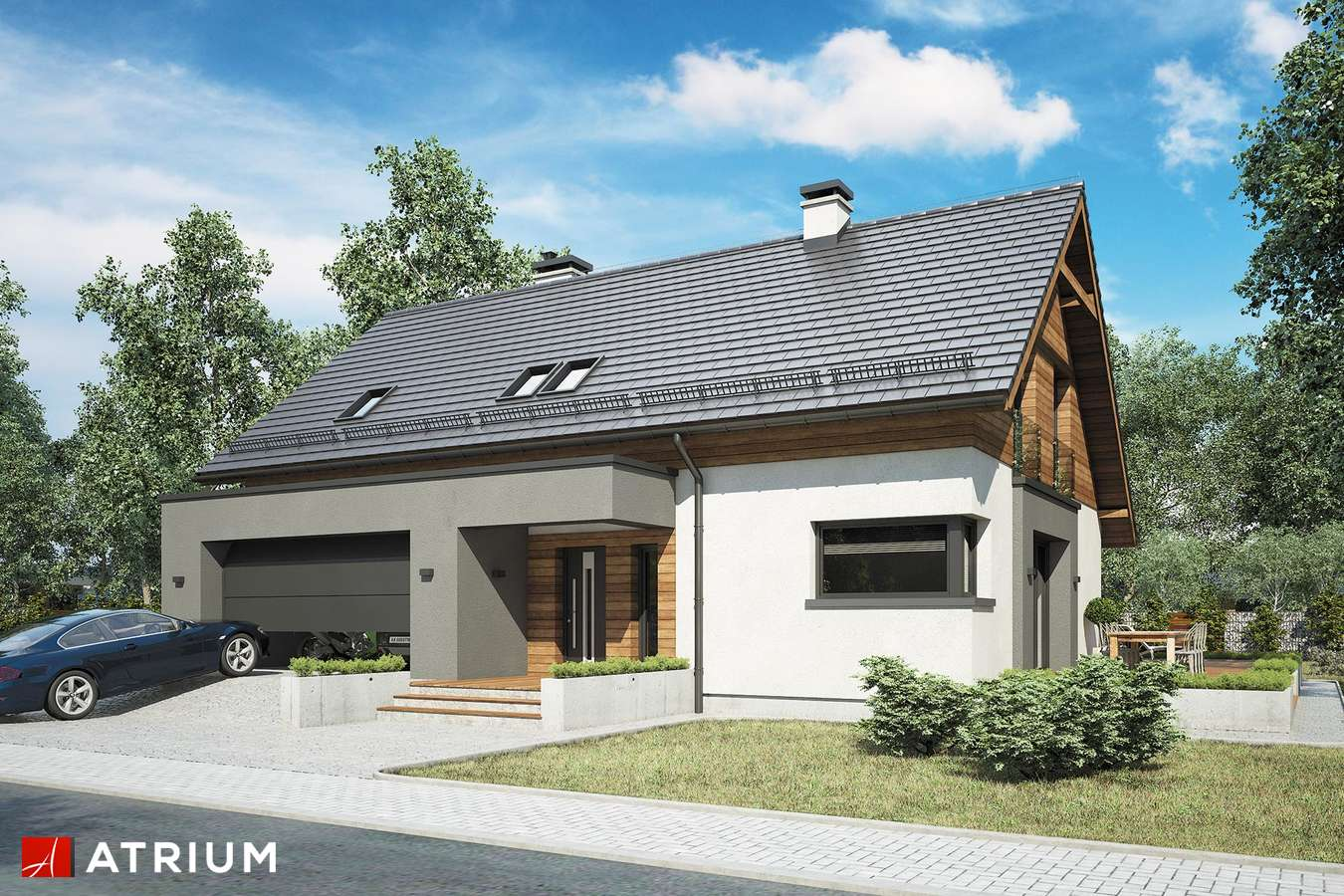 Projekty domów - Projekt domu z poddaszem WILSON - wizualizacja 1