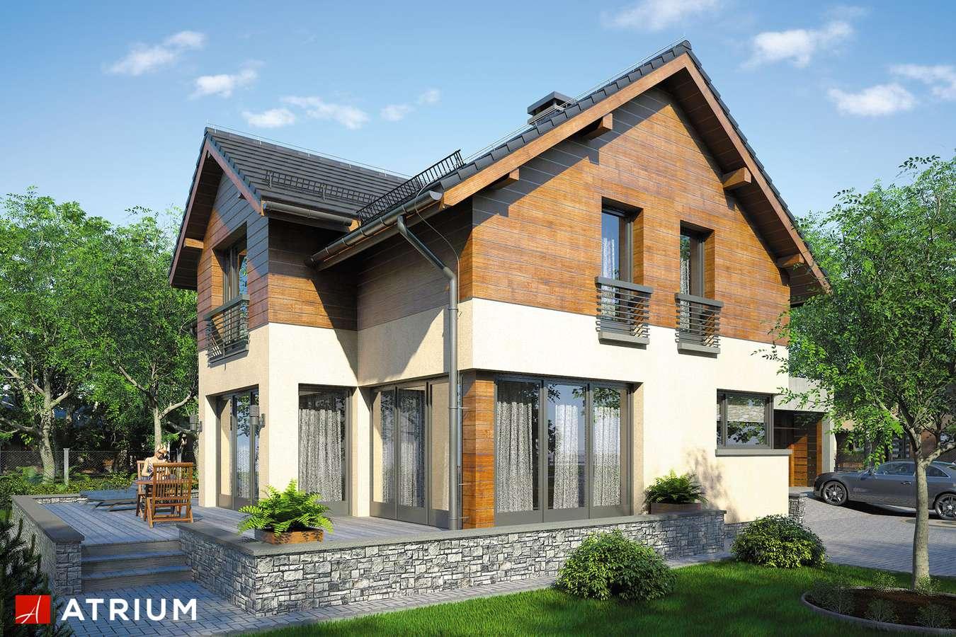 Projekty domów - Projekt domu z poddaszem SAMBA VI - wizualizacja 1