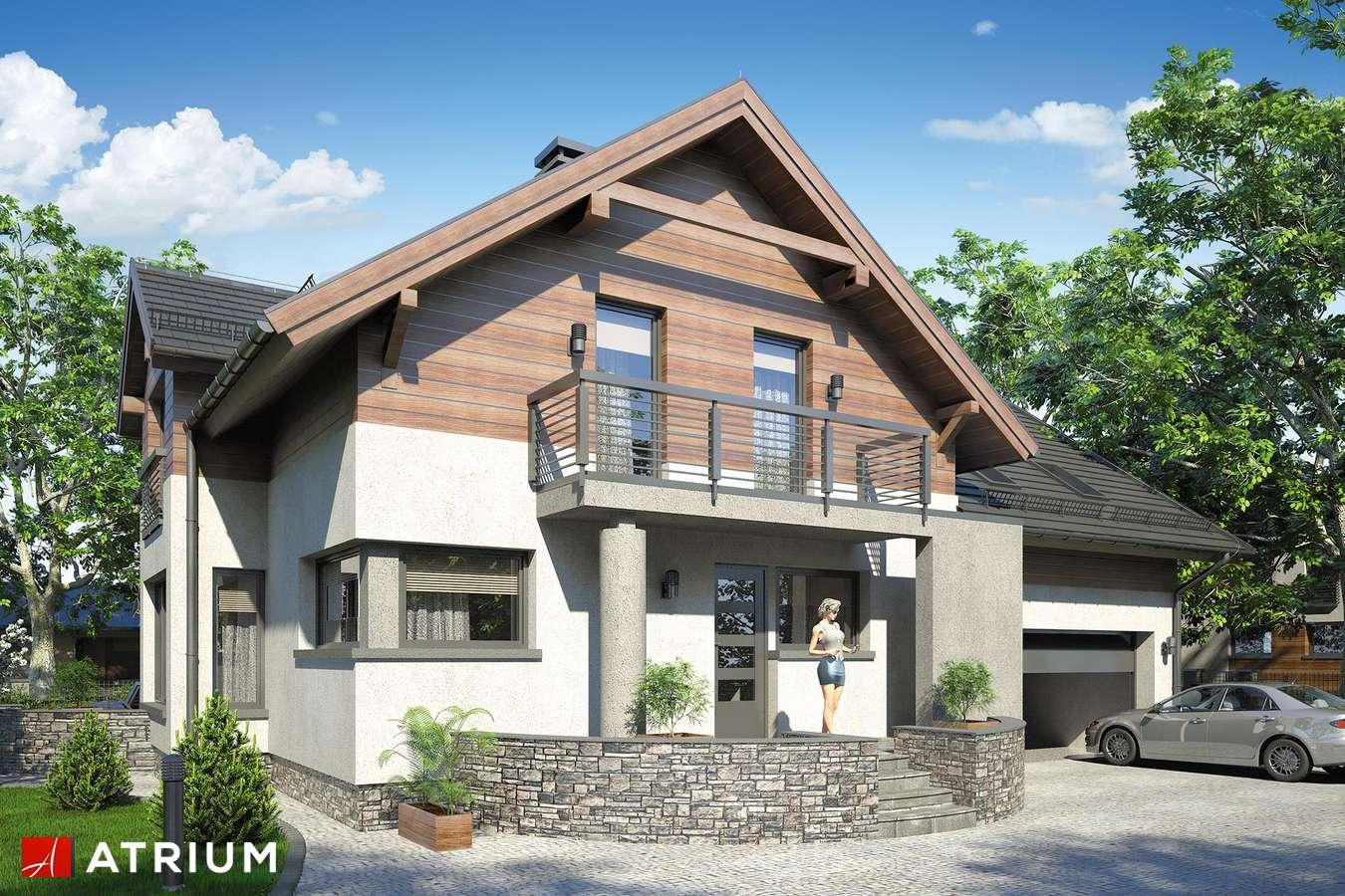 Projekty domów - Projekt domu z poddaszem AGAWA II - wizualizacja 1