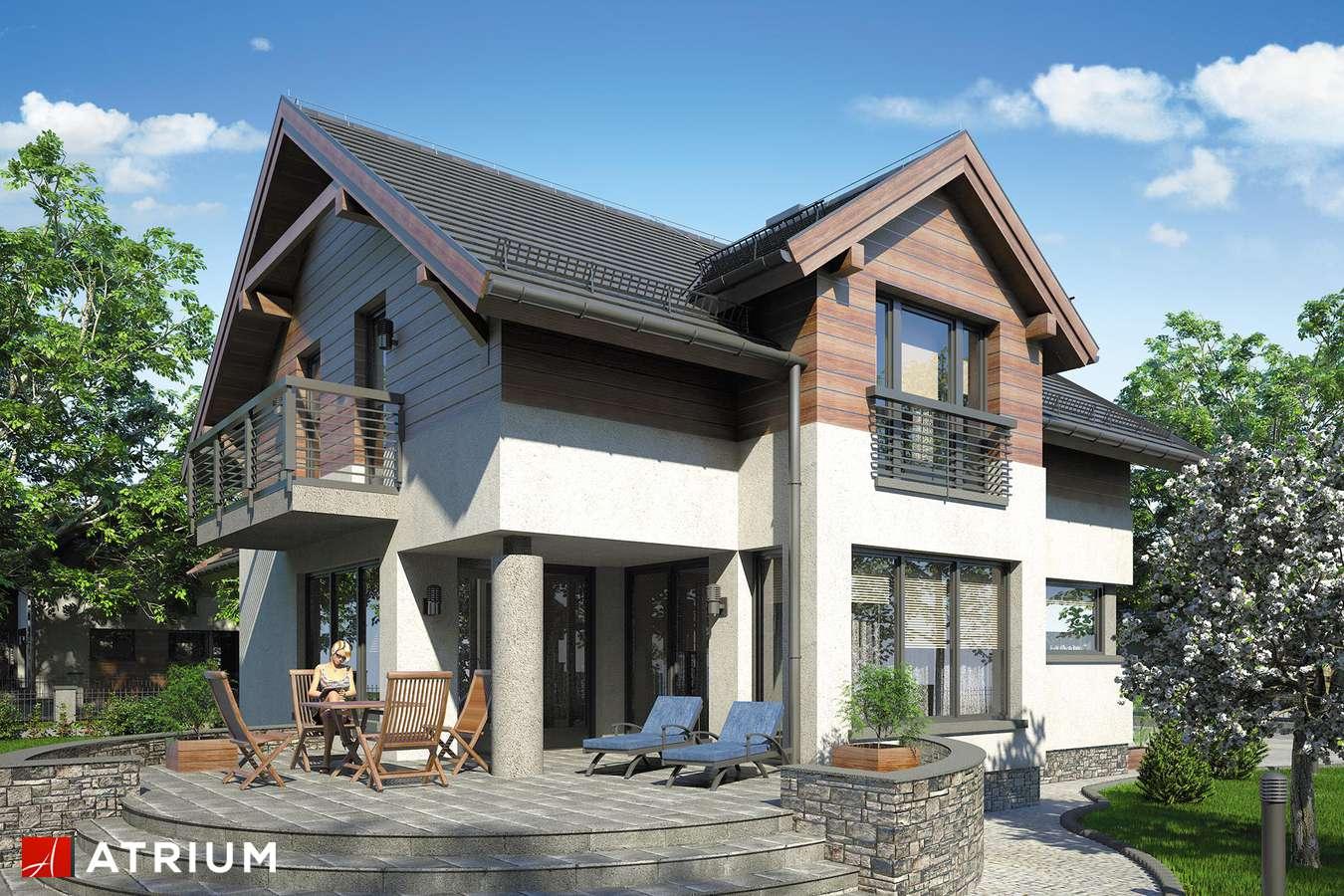 Projekty domów - Projekt domu z poddaszem AGAWA II - wizualizacja 2