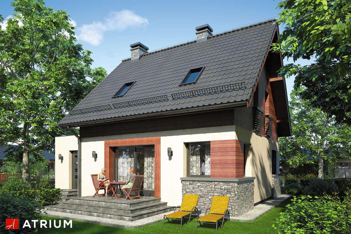 Projekty domów - Projekt domu z poddaszem ARGO - wizualizacja 2