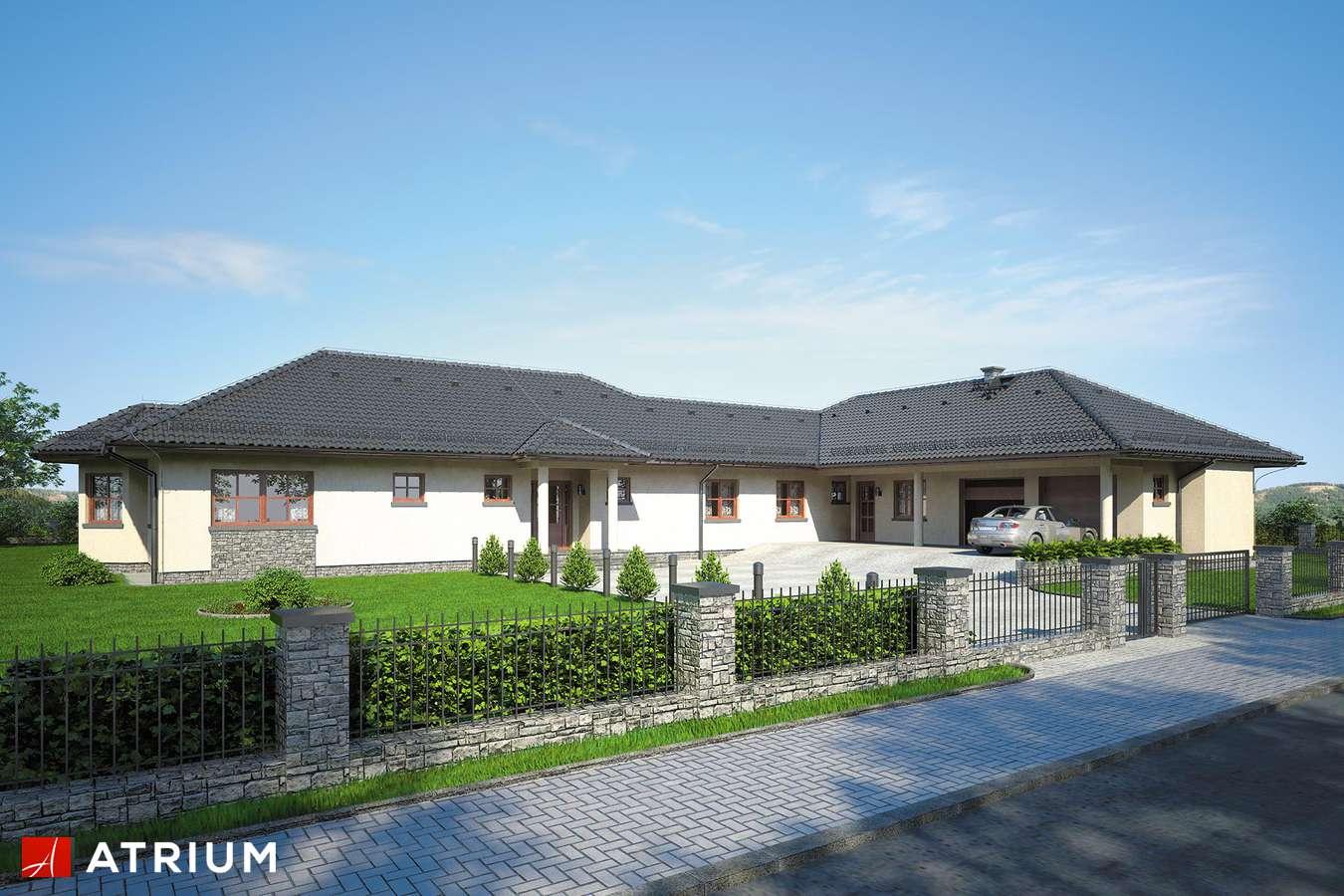 Projekty domów - Projekt domu parterowego MIAMI - wizualizacja 1