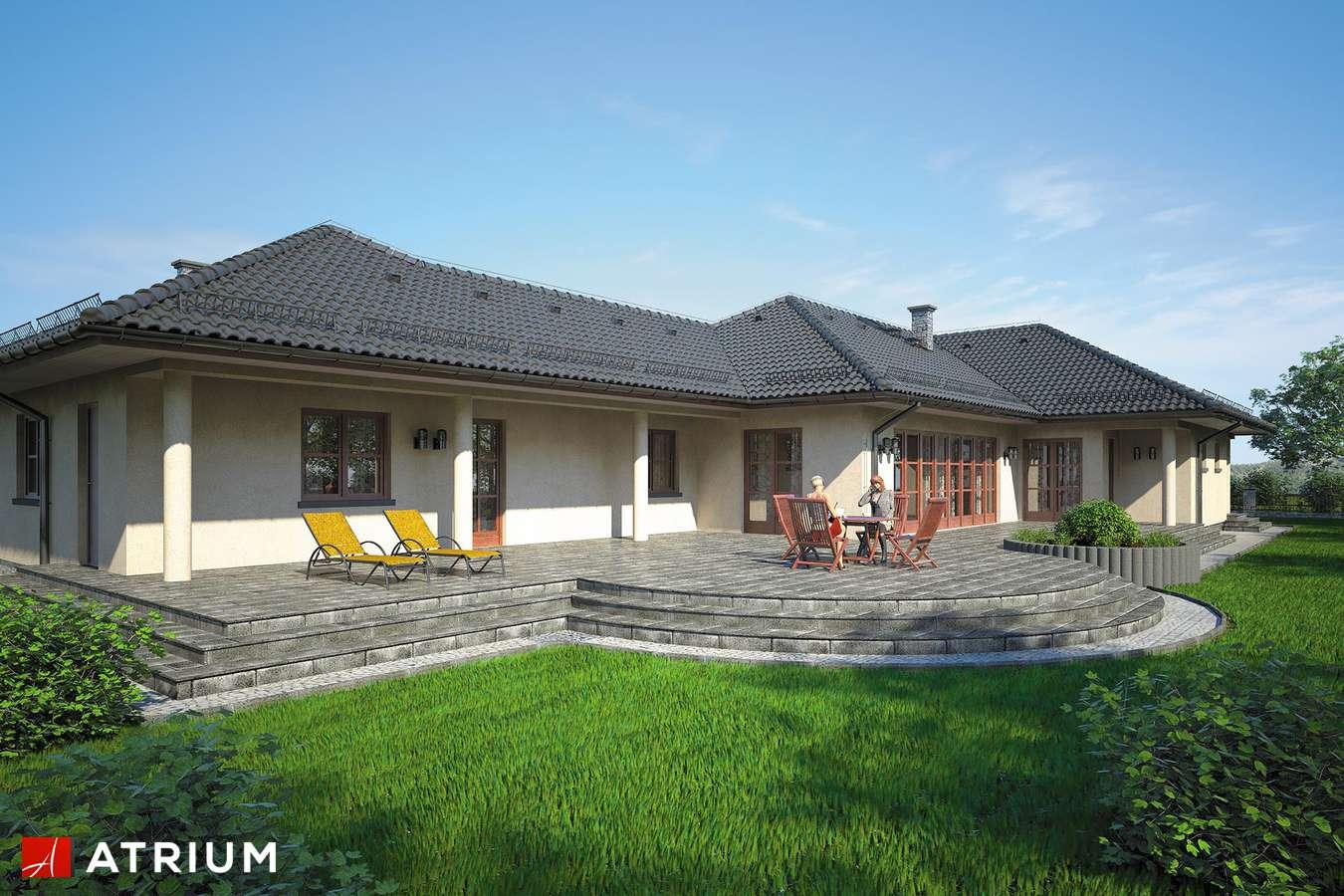 Projekty domów - Projekt domu parterowego MIAMI - wizualizacja 2