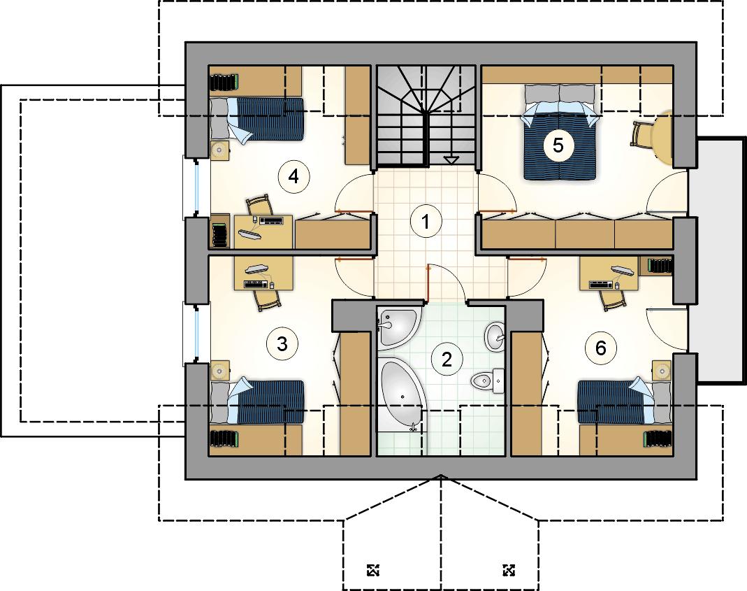 Rzut poddasza - projekt Zachwytek II
