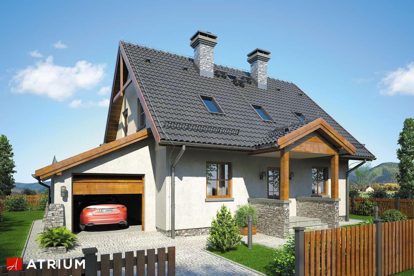 Projekty domów - Projekt domu z poddaszem ZACHWYTEK II - wizualizacja 1