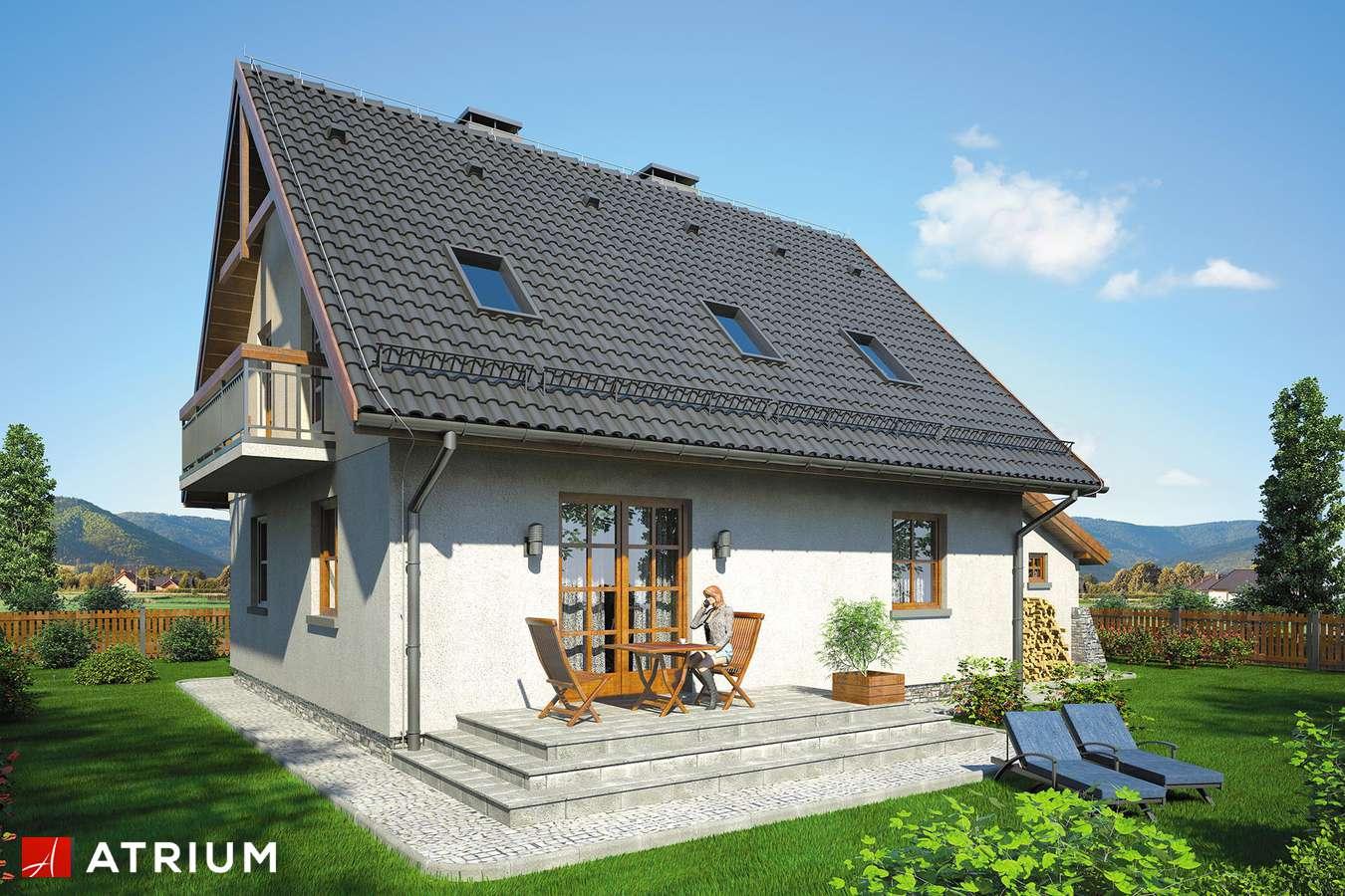 Projekty domów - Projekt domu z poddaszem ZACHWYTEK II - wizualizacja 2