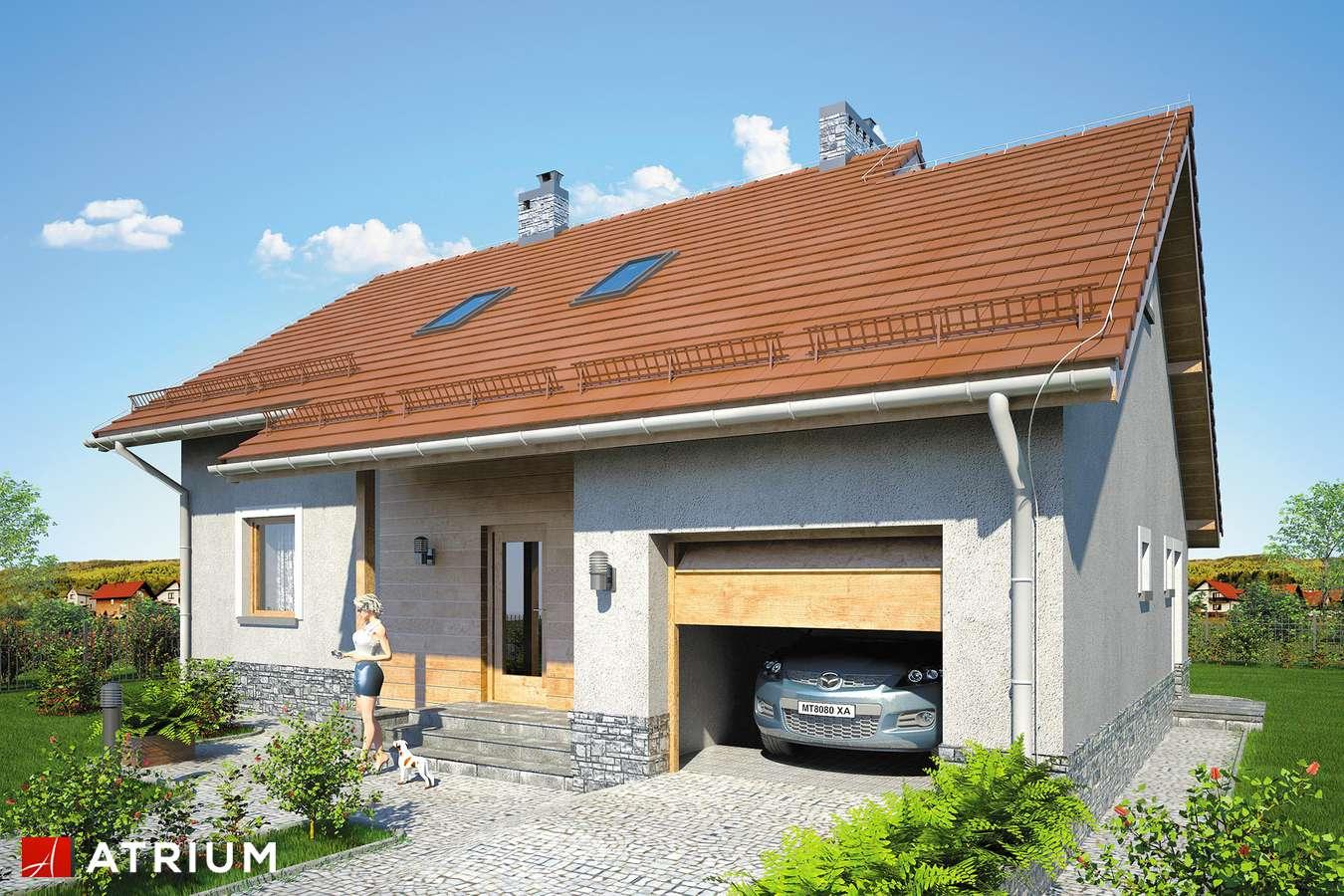 Projekty domów - Projekt domu z poddaszem ROLEKS BIS V - wizualizacja 1 - wersja lustrzana