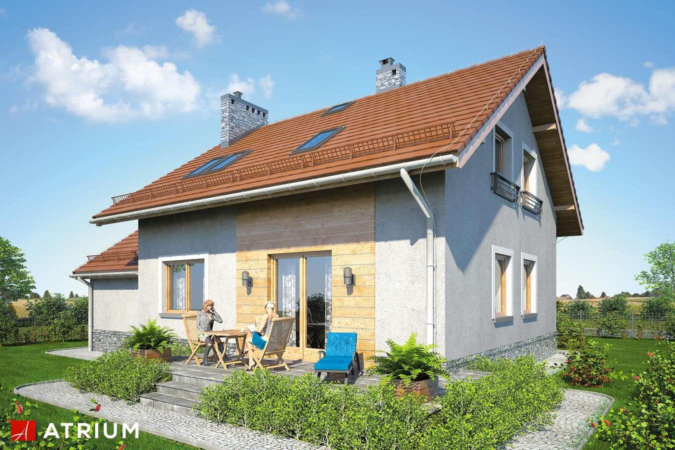 Projekty domów - Projekt domu z poddaszem ROLEKS BIS V - wizualizacja 2 - wersja lustrzana
