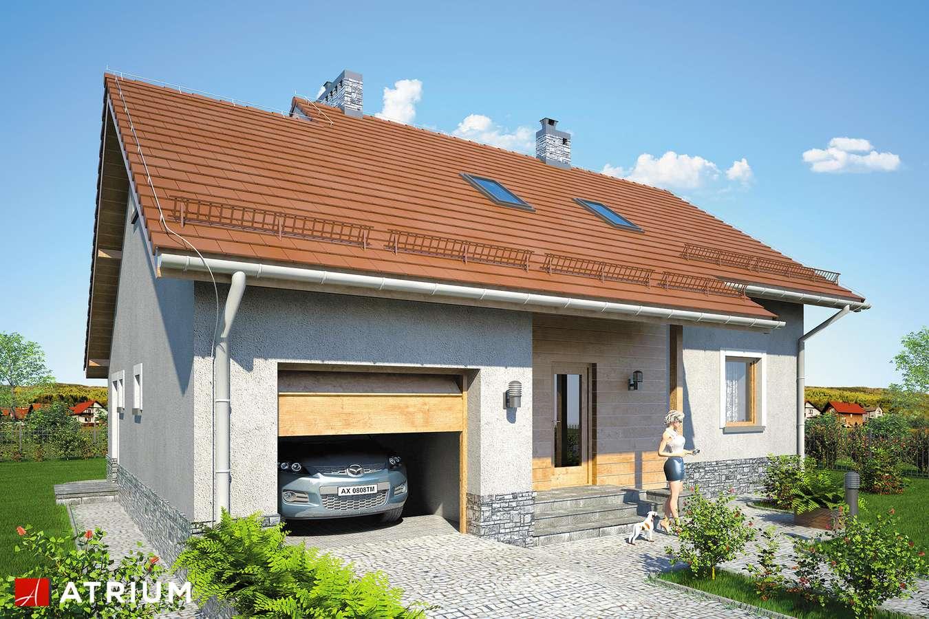 Projekty domów - Projekt domu z poddaszem ROLEKS BIS V - wizualizacja 1