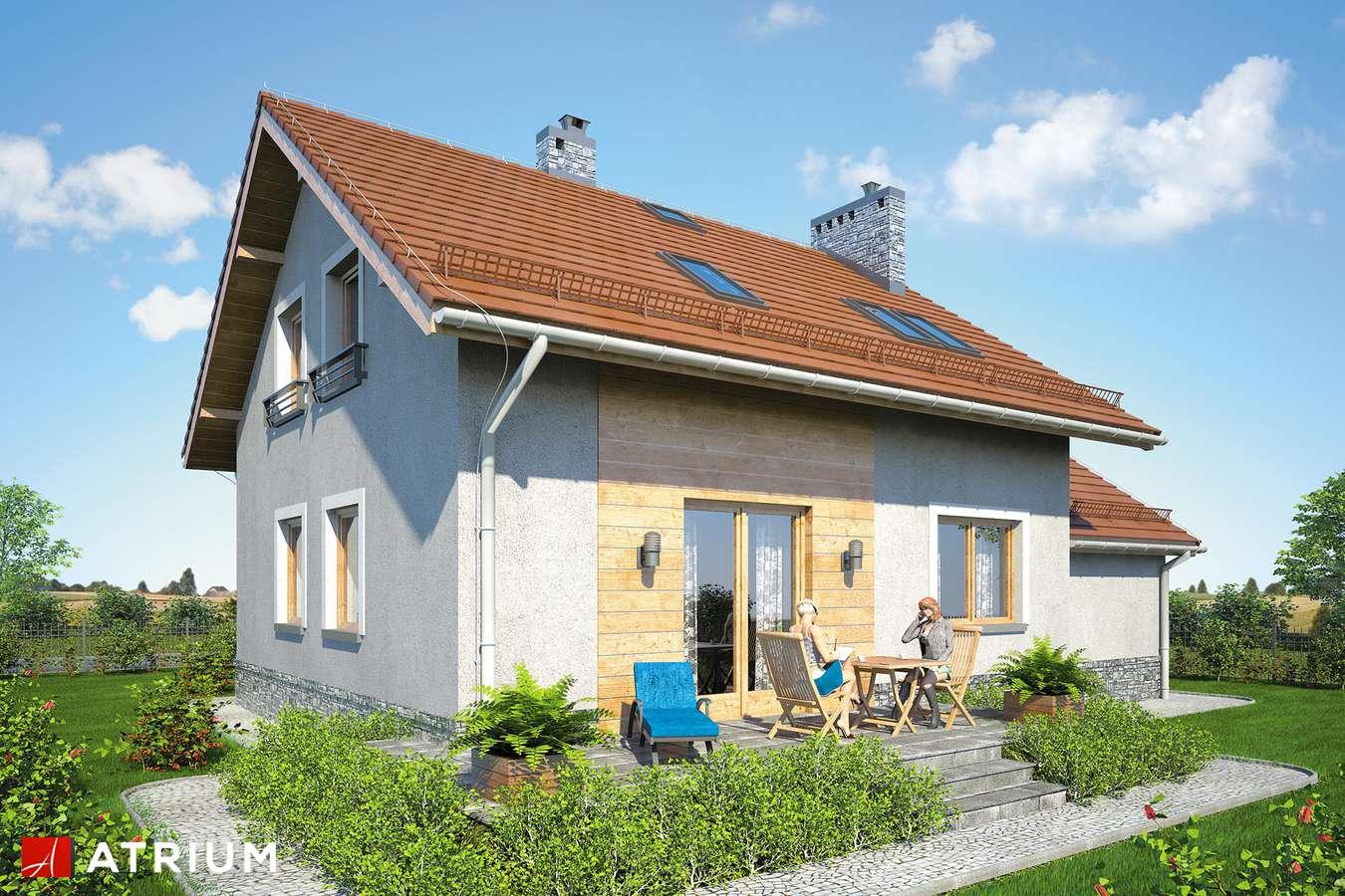 Projekty domów - Projekt domu z poddaszem ROLEKS BIS V - wizualizacja 2