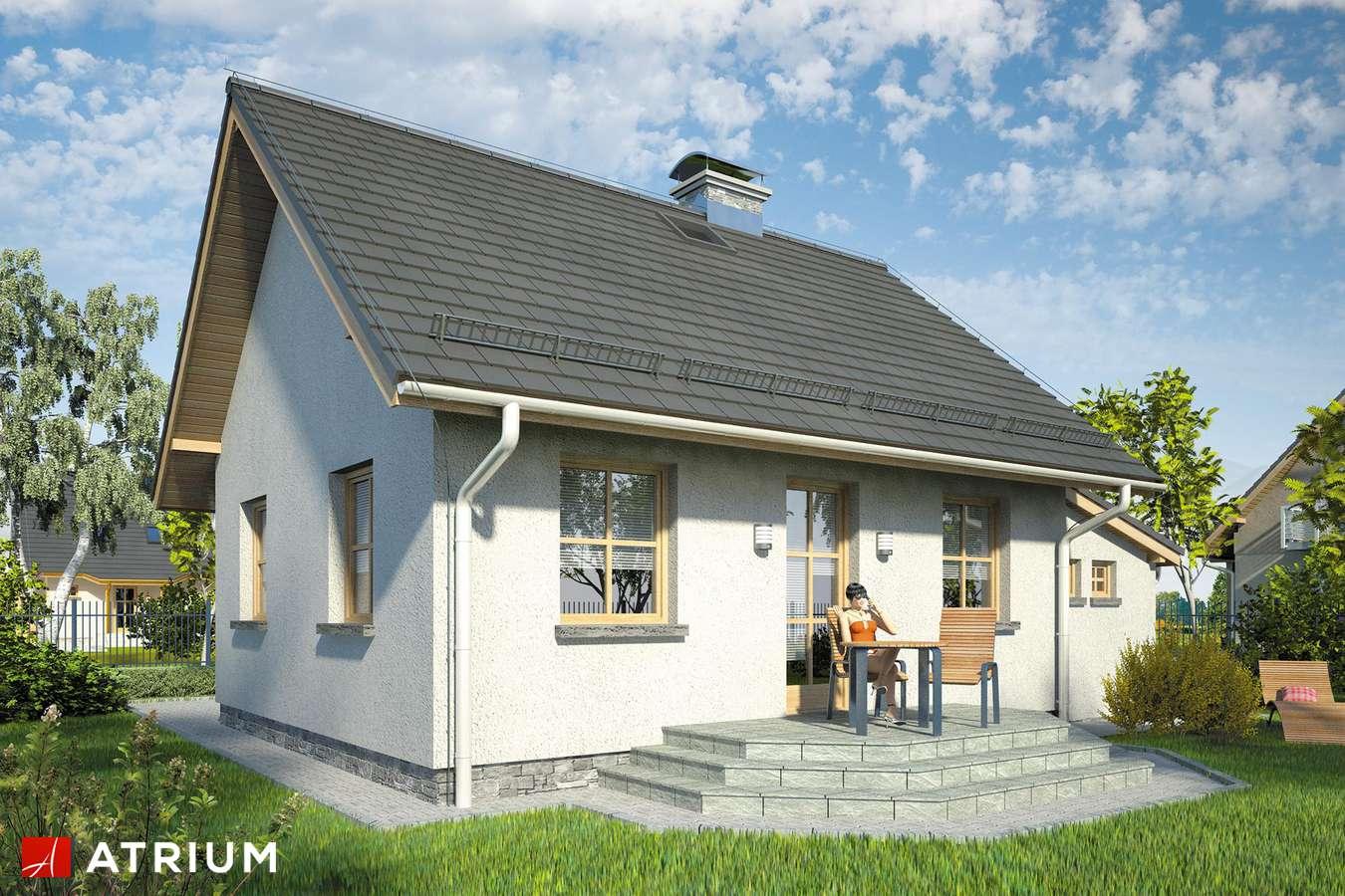 Projekty domów - Projekt domu parterowego GNIAZDKO II - wizualizacja 2
