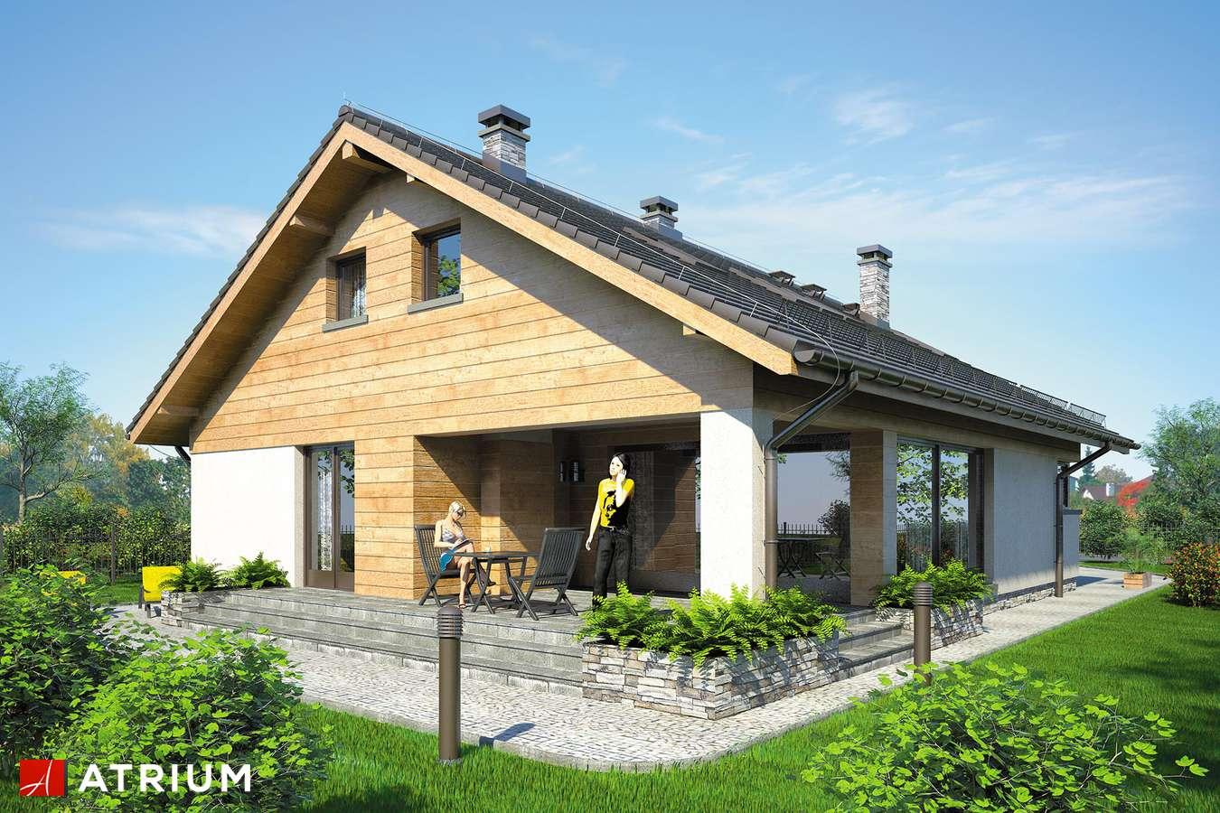 Projekty domów - Projekt domu z poddaszem PELIKAN XI - wizualizacja 2