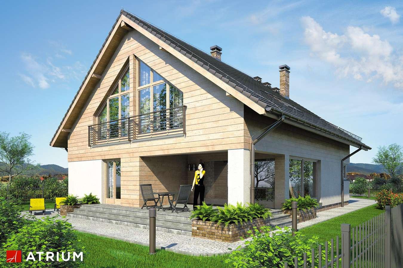 Projekty domów - Projekt domu z poddaszem PELIKAN XIV - wizualizacja 1