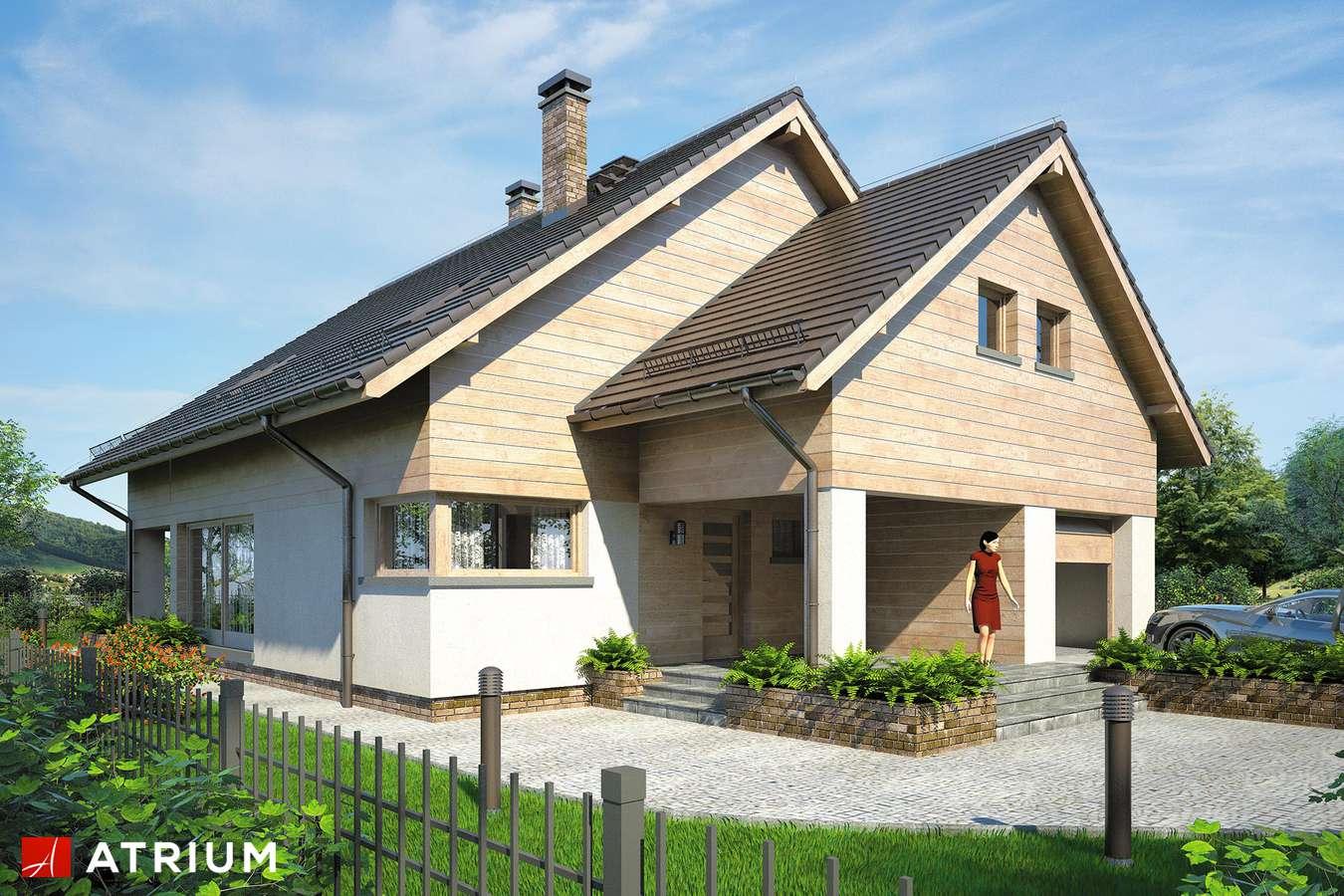 Projekty domów - Projekt domu z poddaszem PELIKAN XIV - wizualizacja 2