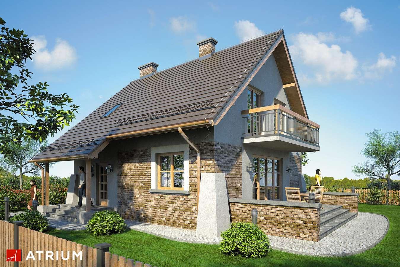 Projekt domu z poddaszem VESTA II - wizualizacja 1