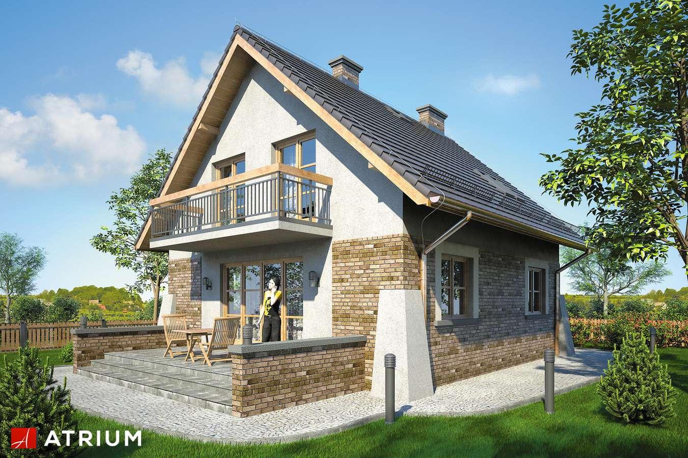 Projekt domu z poddaszem VESTA II - wizualizacja 2