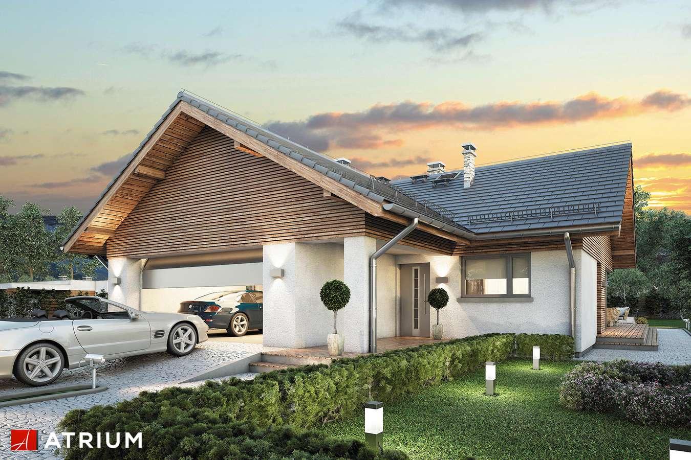 Projekty domów - Projekt domu parterowego WINSTON X - wizualizacja 1 - wersja lustrzana