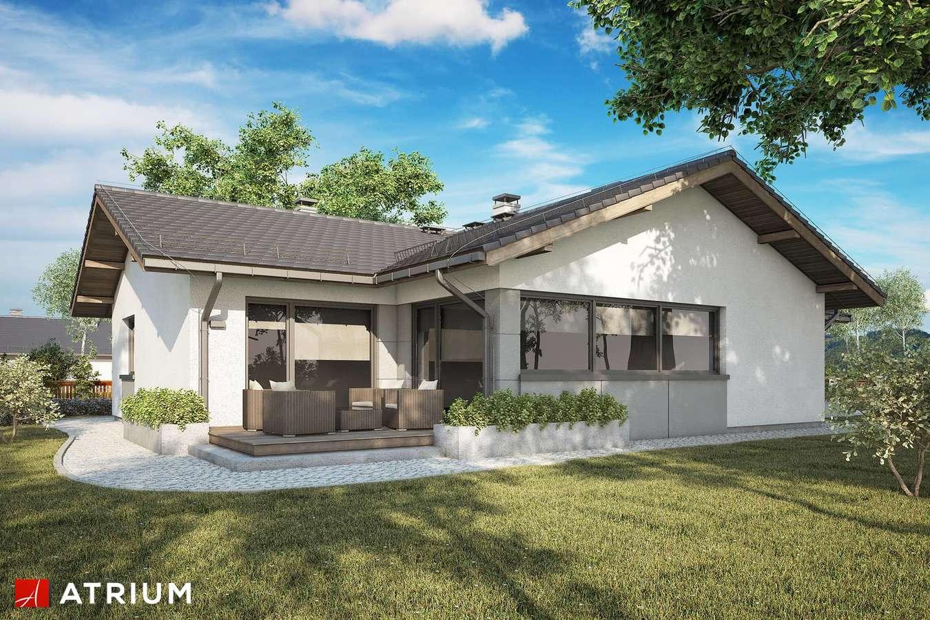 Projekty domów - Projekt domu parterowego OSTOJA VII - wizualizacja 2 - wersja lustrzana