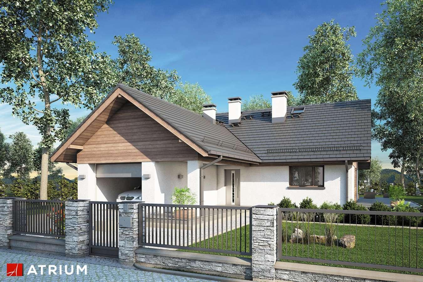 Projekty domów - Projekt domu z poddaszem OXFORD II - wizualizacja 1 - wersja lustrzana