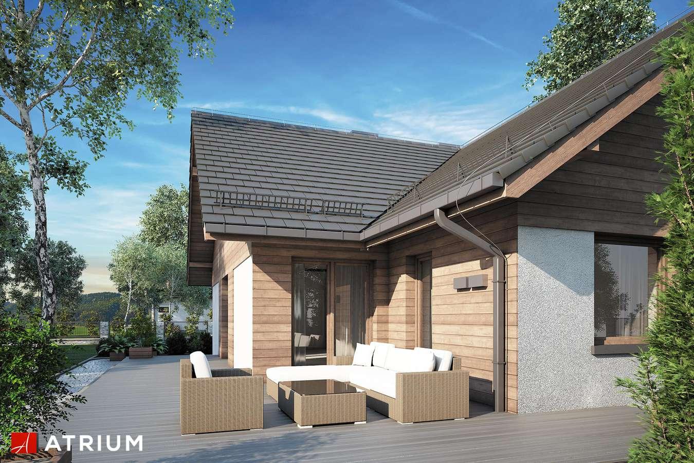 Projekty domów - Projekt domu z poddaszem OXFORD II - wizualizacja 2 - wersja lustrzana