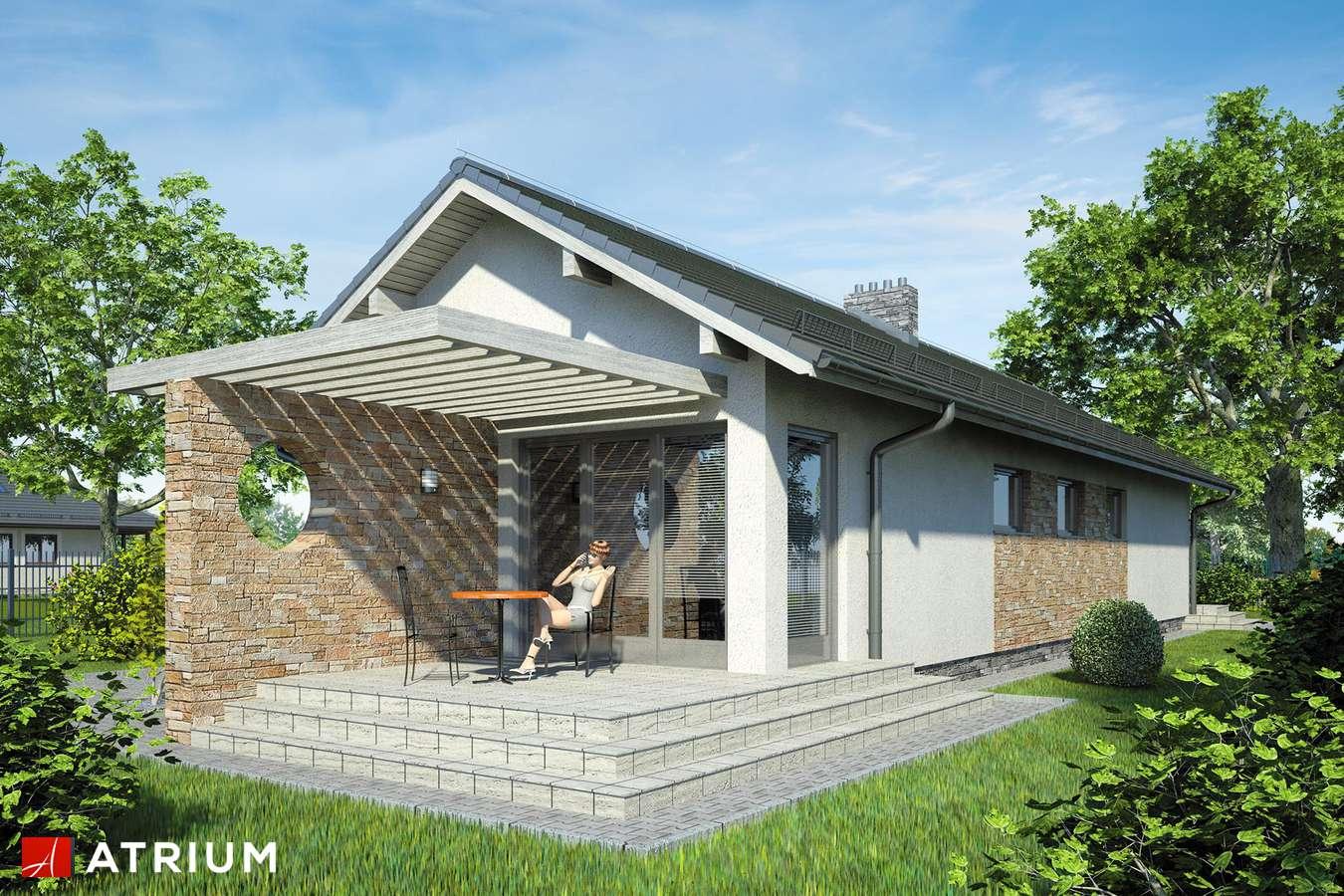 Projekty domów - Projekt domu parterowego NEPTUN - wizualizacja 1 - wersja lustrzana