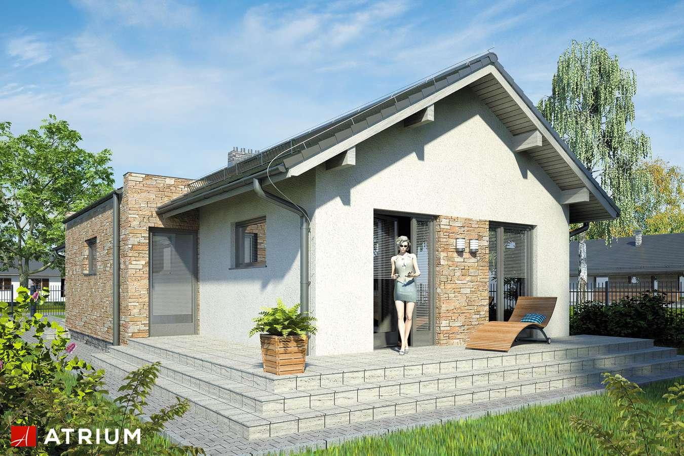 Projekty domów - Projekt domu parterowego NEPTUN - wizualizacja 2