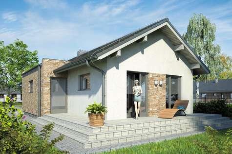 Projekt domu parterowego NEPTUN - wizualizacja 2