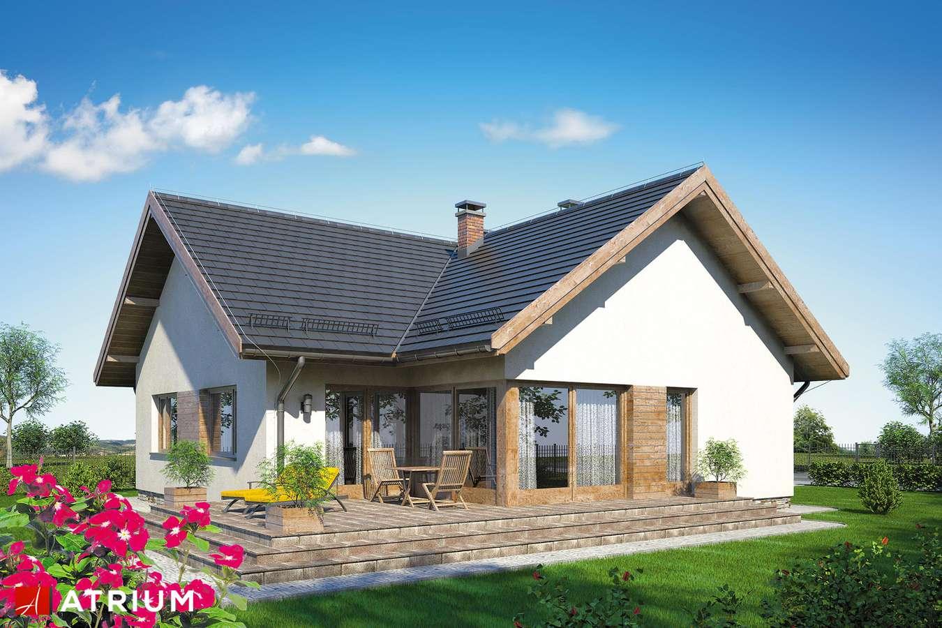 Projekty domów - Projekt domu parterowego PARMA - wizualizacja 2