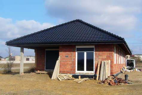 Projekt domu Sfinks IV w budowie