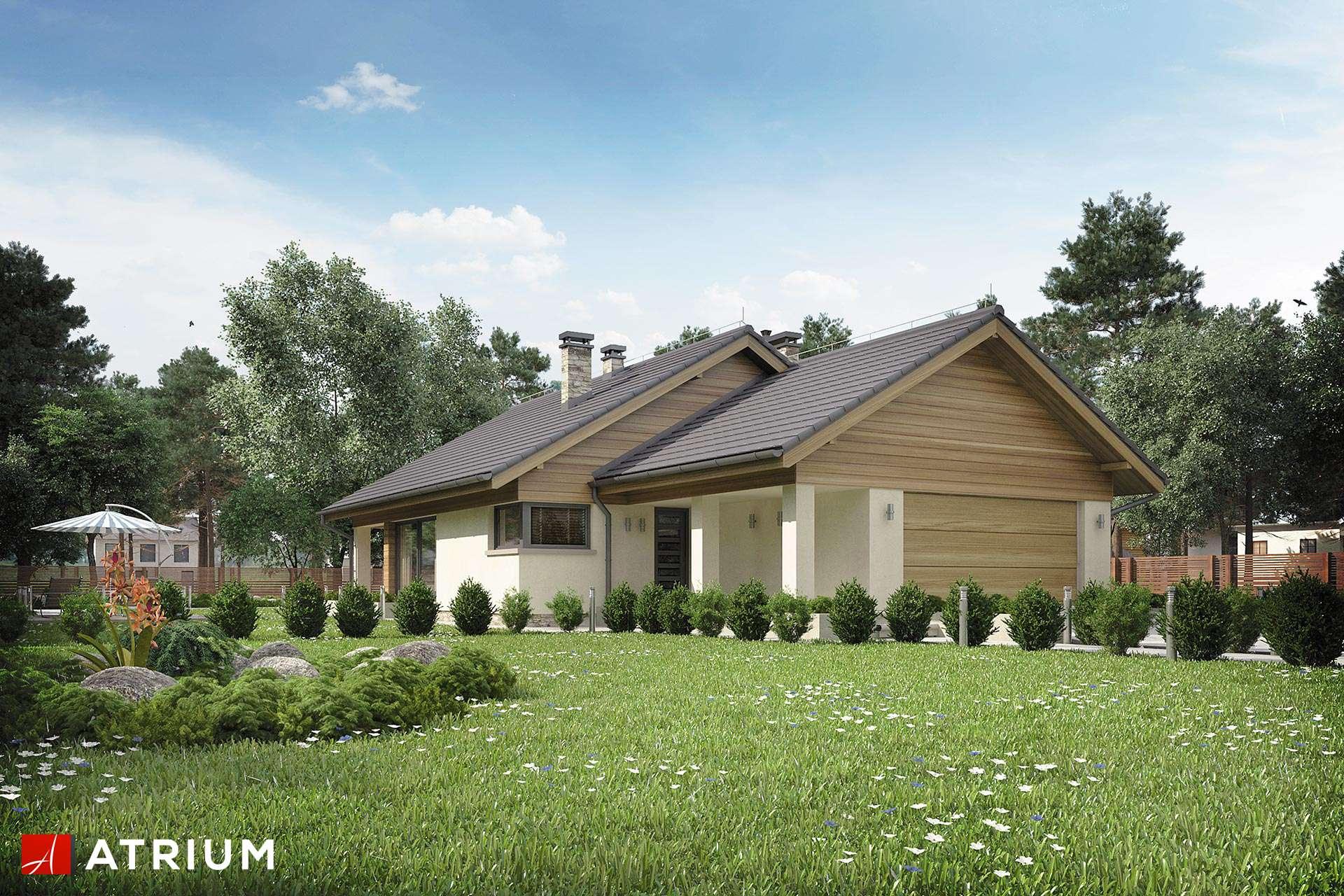 Merlin Parterowy Dom Z Dwustanowiskowym Garażem I Tarasem Studio